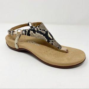 Vionic Rest Kirra sandal in natural snake